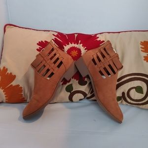 American eagle brown booties size:8